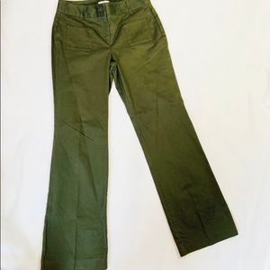 Ann Taylor loft army green bootcut